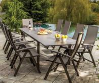 Serenity Dining Table Set Platinum