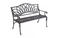 Daffodil Cast Aluminum Garden Bench Blacksmith