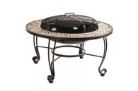 "Vulcano 33.5"" Round Wood Burning Fire Pit Table"