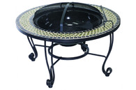 "Shannon 33.5"" Mosaic Wood Burning Fire Pit"