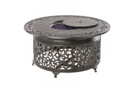 """Bellagio 48"""" Round Gas Fire Pit Chat Table Frame PLUS Gas Burner Kit"""