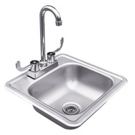 "15"" Sink and Faucet"