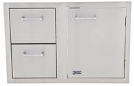 Lion Door/Drawer Combo W/ Towel Rack L3320