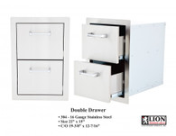 Lion Double Drawer L2374