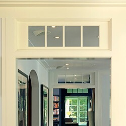 find home design and rennovation ideas with an interior transom window above an opening