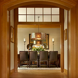 find home design and rennovation ideas for dining rooms that feature transom windows