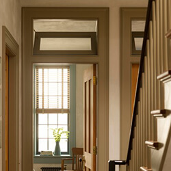 find home design and rennovation ideas for hallways and staircases that feature transom windows