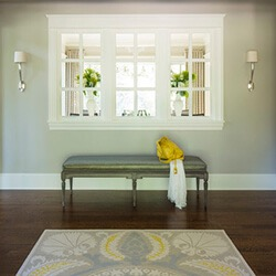 find home design and rennovation ideas with an interior transom window in a wall between rooms
