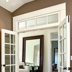 find home design and rennovation ideas with an interior transom window over double or french doors