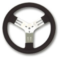 Longacre Covered Aluminum Steering Wheel - 13 Inch
