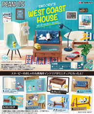 COMBINATION set : Re-ment Snoopy's West Coast House & Re-ment Snoopy Holiday Trip Go to America