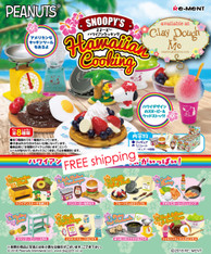 Re-ment Snoopy Hawaiian Cooking, with paper DISPLAY