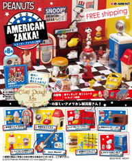 Re-ment Snoopy American Zakka! with PAPER BACKGROUND