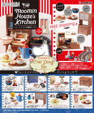 Re-ment Moomin House's Kitchen, with PAPER BACKGROUND (Sold Out)
