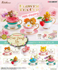 Re-ment Rilakkuma Flower Tea Cup (Currently Out of Stock)