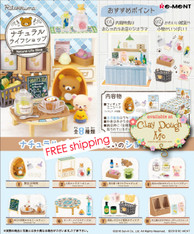Re-ment Rilakkuma Natural Life Shop, with PAPER BACKGROUND
