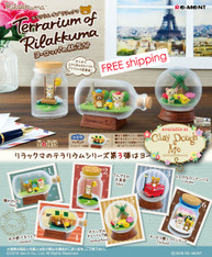 Re-ment Terrarium of Rilakkuma / Re-ment Rilakkuma Terrarium Travelling to Europe