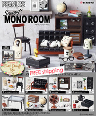 Re-ment Snoopy's Mono Room, with paper BACKGROUND (Sold Out)