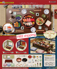 Re-ment Gorgeous Sushi Set / Re-ment Sushi Resto, with Paper  Room Background  (Currently out of stock)