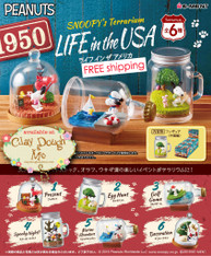 Re-ment Snoopy Terrarium Life in the USA