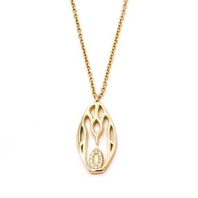 Penguin Pendant Necklace Yellow Gold