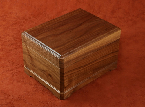 Beautiful Jewelry/Keepsake box shown in walnut