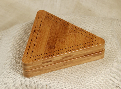 High quality wooden cribbage board is available in Maple, Walnut or Cherry (shown)