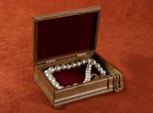 Beautiful walnut keepsake box stores your most special jewelry in style