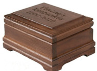 Walnut Keepsake box with optional custom engraving on the lid