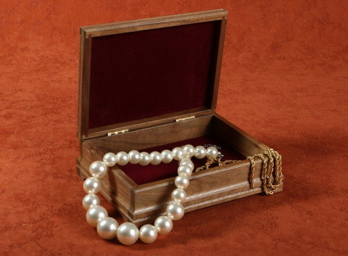Walnut keepsake box is the perfect place to store your jewelry collection