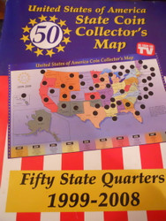 USA State Coin Map Complete w/ quarters 1999 - 2008