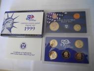 1999 PROOF SET W/ STATE QUARTERS  COA US MINT