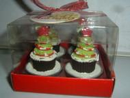 Creative Home CHRISTMAS TREE CUPCAKE TEALIGHTS Set of 4