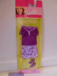 Barbie GO IN STYLE Fashion  2000  68014  Purple top Skirt