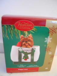Carlton Cards PUPPY LOVE #5 Ornament YORKIE Heirloom #91 2005