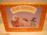 Hallmark Merry Miniatures GIVING THANKS Set of 3