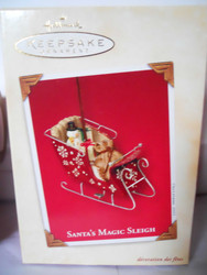 Hallmark SANTA'S MAGIC SLEIGH Ornament  Santa  2003