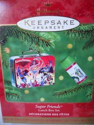Hallmark SUPER FRIENDS LUNCH BOX SET Ornament 2000