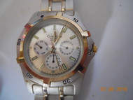 Men's MACY'S CLUB ROOM WATCH Stainless Steel w/ Date, Military Hour & Day of Week