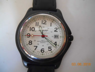 Men's SHARP SPORTS WATCH Black Material / Leather band