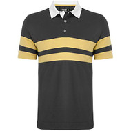 Callaway Mens X-Series Rugby Chest Striped Golf Shirt Ombre Blue