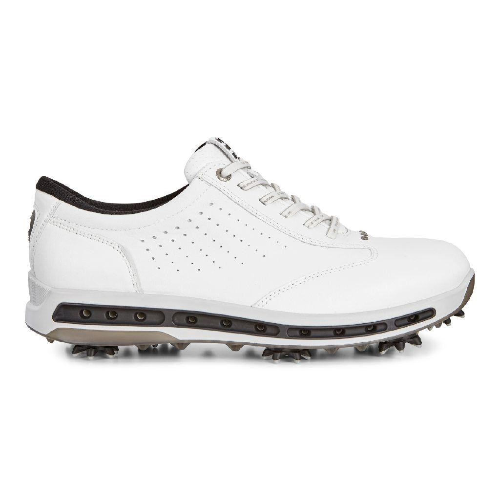 4ed158f074f3 Ecco Mens Golf Cool Goretex Shoes White Black