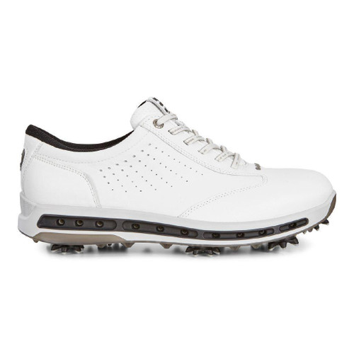 Ecco Mens Golf Cool Goretex Shoes White Black