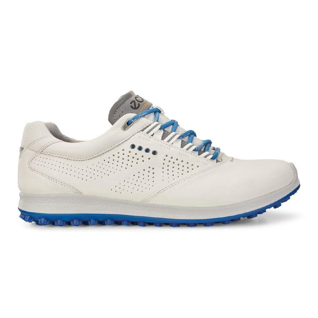 cd562da4c6b7 Ecco Mens Golf Biom Hybrid 2 White Bermuda Blue