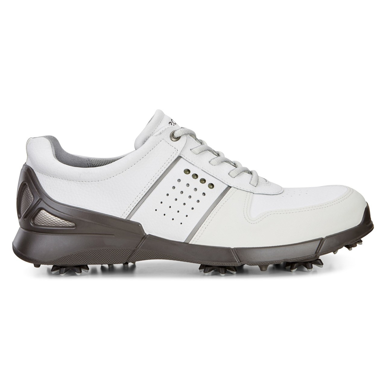 a6addf2775 Ecco Mens Base One Golf Shoes White Mimosa Extra Width Option Size 42  (8-8.5)