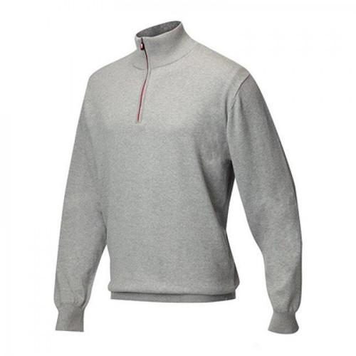 JRB Mens Lined Golf Sweater Light Grey