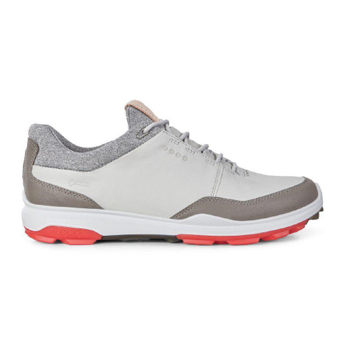 Ecco Mens Biom Hybrid 3 Goretex Golf Shoes Concrete Scarlet