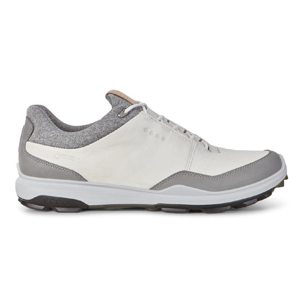 best wholesaler top design quality and quantity assured Ecco Mens Biom Hybrid 3 Goretex Golf Shoes White Black Extra Width Option