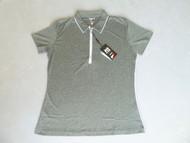 JRB Ladies Melange Short Sleeved Golf Shirt Black Small