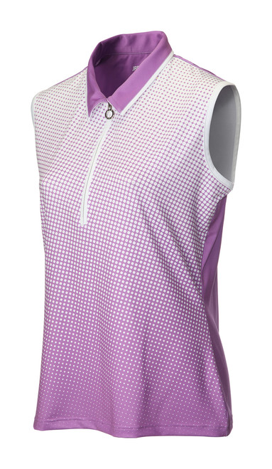 JRB Ladies Spot Sleeveless Golf Shirt